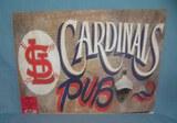St. Louis Cardinals Pub retro style advertising sign
