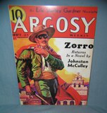 Argosy Zorro Returns retro style advertising sign