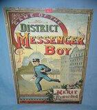 Messenger Boy retro style advertising sign