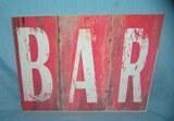 BAR retro style advertising sign