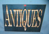 ANTIQUES retro style advertising sign