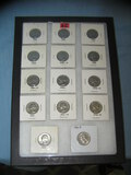 Group of vintage George Washington US quarters
