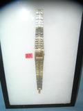 Geneva gold toned wrist watch