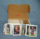 Box full of vintage hockey cards