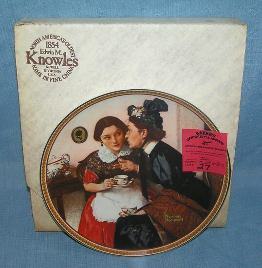 N. Rockwell collector plate: Gossiping in the Alcove