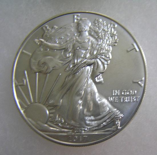 Walking Liberty silver eagle 1 troy oz coin