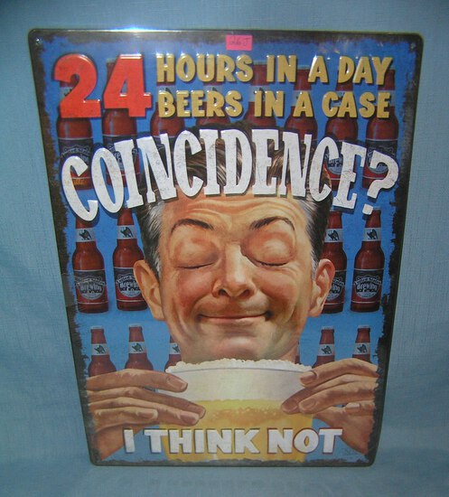 All tin 24 hour beers advertising sign