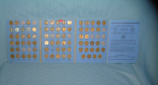 Large collection of early Lincoln pennies