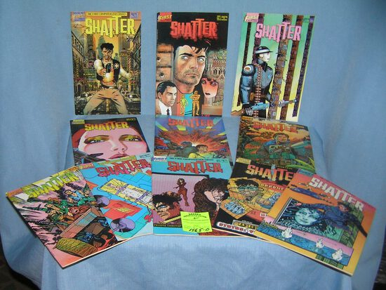 Collection of vintage Shatter comic books