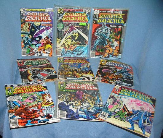 Vintage Marvel Battlestar Gallactica comic books