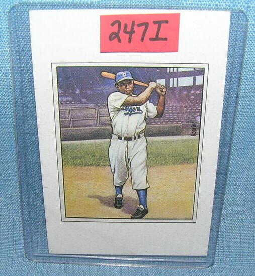 Jackie Robinson Bowman reprint Baseball card