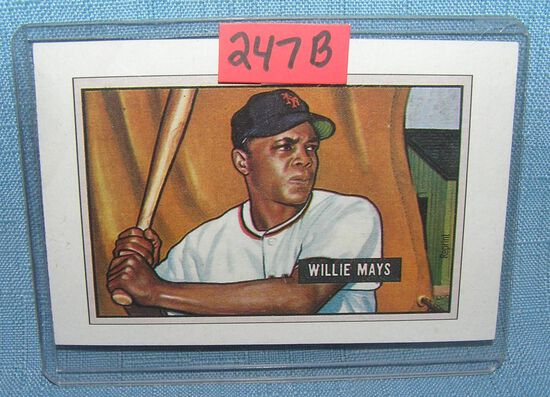 Willie Mays Bowman reprint Baseball card