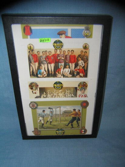 Group of vintage soccer themed post cards