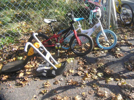 Group of 3 bikes and toys