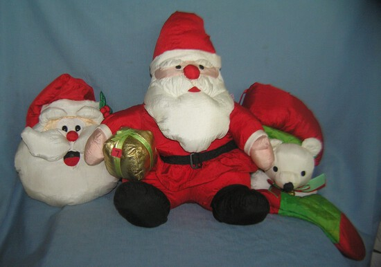 Group of 3 modern holiday decorations
