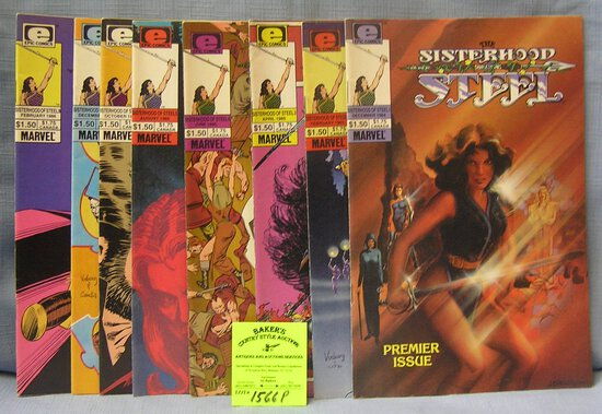The Sisterhood of Seal vintage comic books