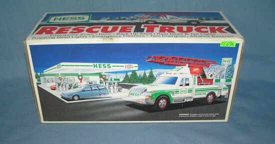 Vintage HESS rescue truck with original box
