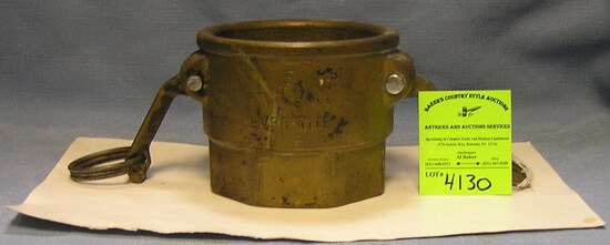 Antique ever-tight fire hose and nozzle coupling