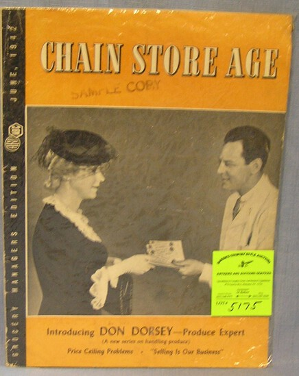 Early Chain Store Age grocery manager's catalog