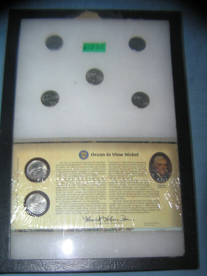 Group of US mint cased and circulated American nickels