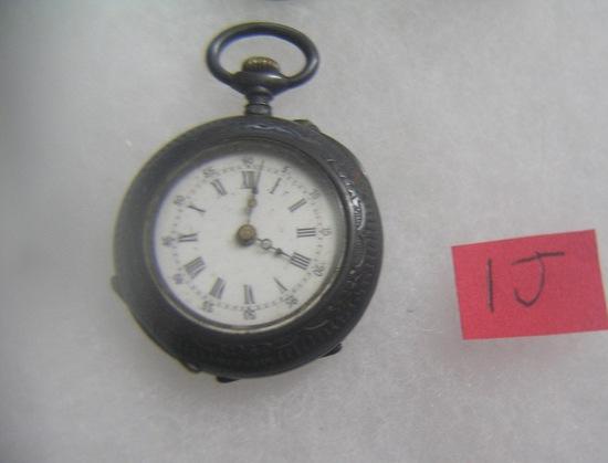 Antique 800 fine silver pocket watch