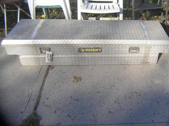 Husky aluminum diamond plate contractor's tool box