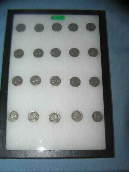 Collection of vintage Jefferson nickles