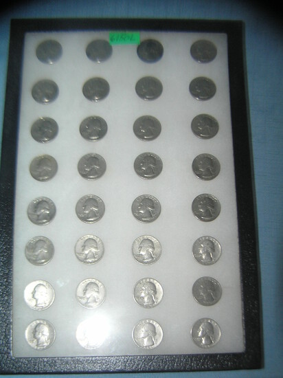 Collection of vintage 1960's quarters 1965-1970