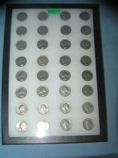 Collection of 1970's era quarters 1970-1979