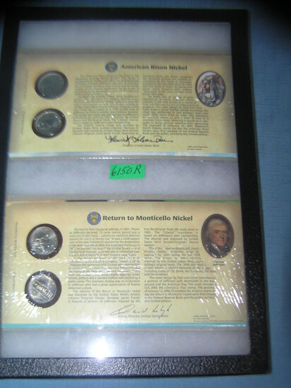 Group of US mint cased American nickels