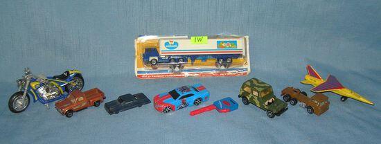 Group of vintage vehicles