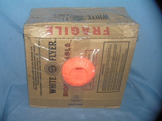 Box of white flyer clay pidgeon targets