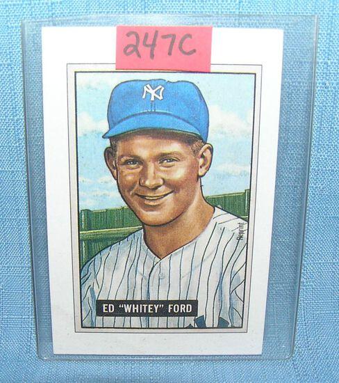 Whitey Ford Bowman reprint Baseball card