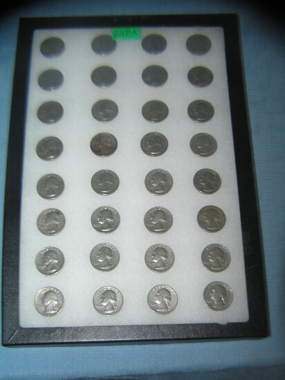Collection of vintage 1960's quarters 1965-1969