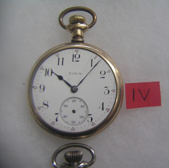 Elgin antique pocket watch gold filled case
