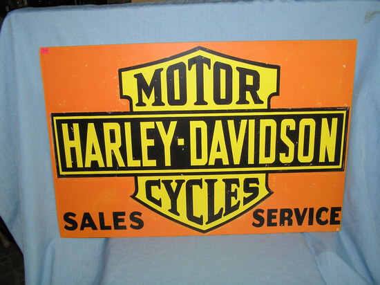Harley Davidson motorcycle sales and service retro style advertising sign