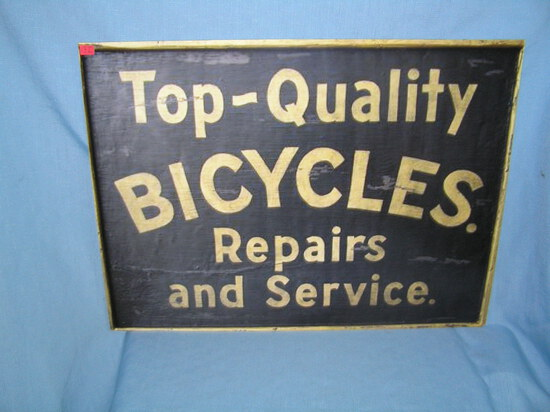 Top quality bicycles repairs and service retro style advertising sign