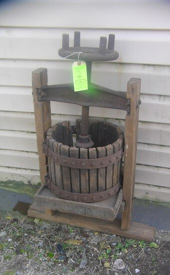 Antique grape press circa 1860