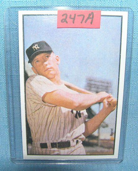 Mickey Mantle Bowman reprint Baseball card