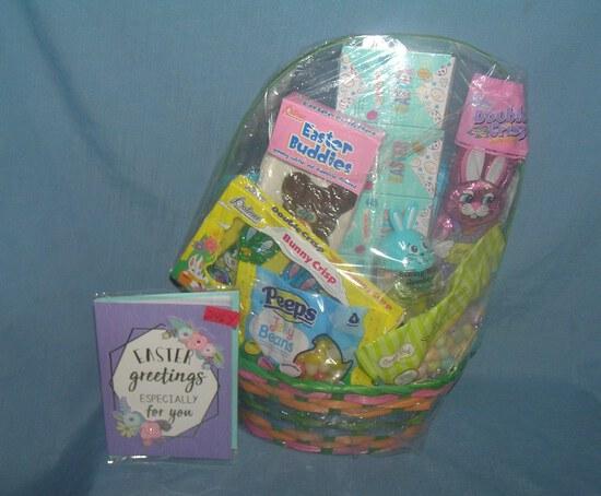 Large Easter themed gift basket, loaded