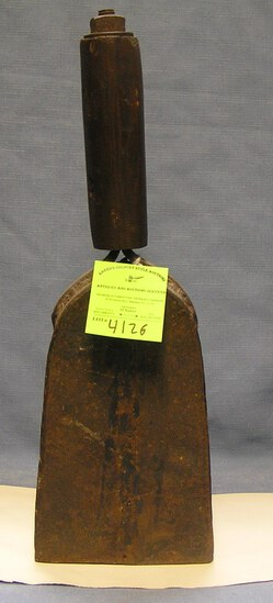 Heavy antique cast iron fire alarm bell