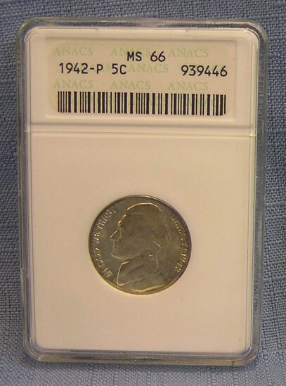 Vintage all silver 1942P Jefferson Nickel