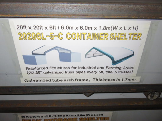NEW 20'x20' Container Storage Shelter