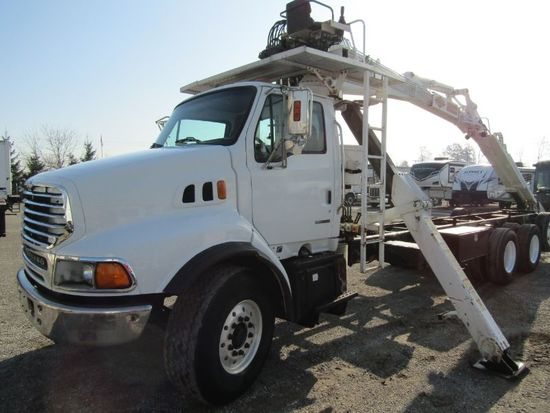 2004 Sterling LT9500 Cab & Chassis w/ Material Hand Crane