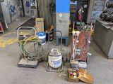 RobinAir Vacuum Pump, Gauges, Cart, 2 Carts, Extension Cords