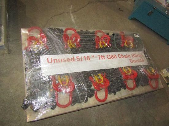 """(8) 5/16"""" 7' Chain Slings"""
