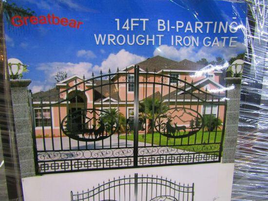 14' Bi-Parting Wrought Iron Gate