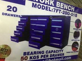 7' 20 Drawers Work bench