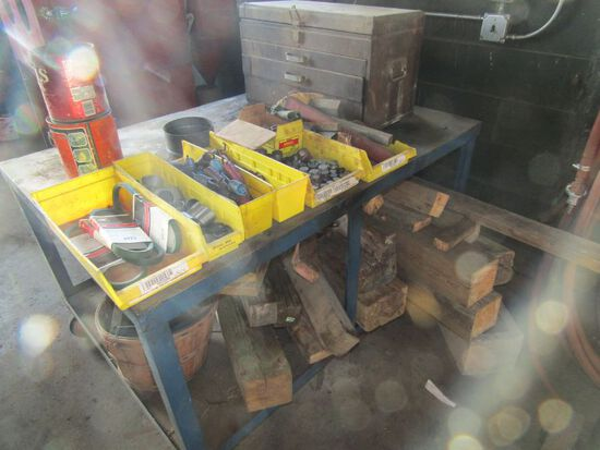 Rolling Cart, Craftsman Toolbox & Misc