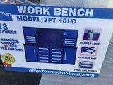 7' 18 Drawers Work bench